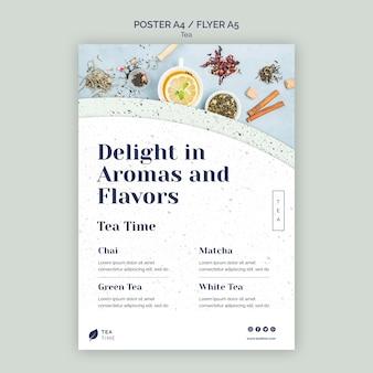 Folheto para a hora do chá aromático