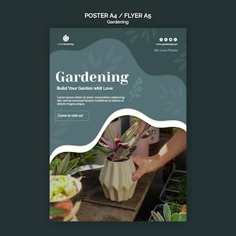 Folheto para jardinagem