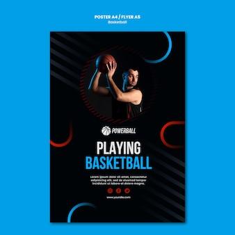 Folheto para jogar basquete