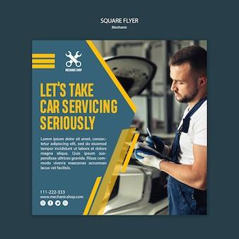 Folheto para profissão mecânica