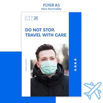 Folheto para reserva de viagens