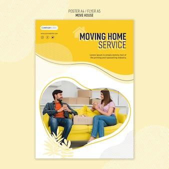 Folheto para serviços de realocação de residências