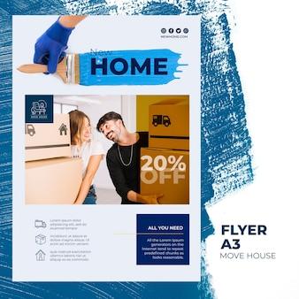 Folheto para serviços de realocação em casa