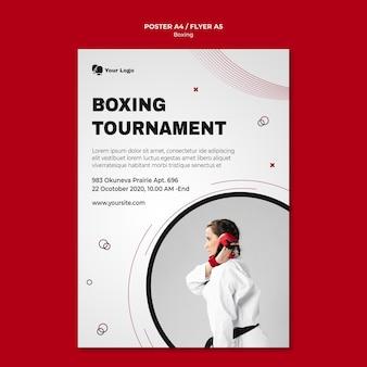 Folheto para treinamento de boxe