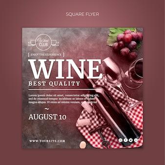 Folheto quadrado de vinho de melhor qualidade