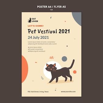 Folheto vertical para adoção de gatos