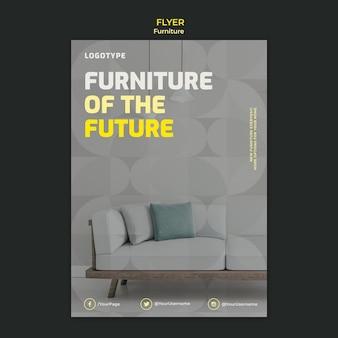 Folheto vertical para empresa de design de interiores