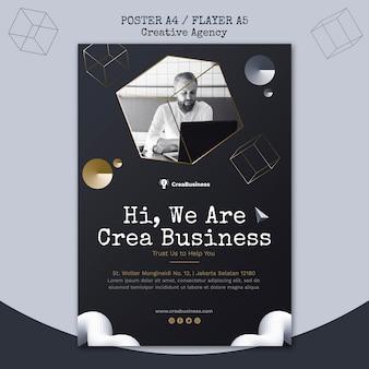 Folheto vertical para empresa parceira de negócios
