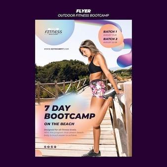 Folheto vertical para fitness ao ar livre