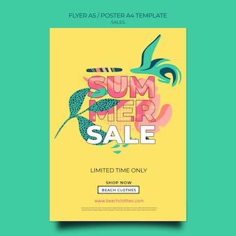 Folheto vertical para liquidação de verão