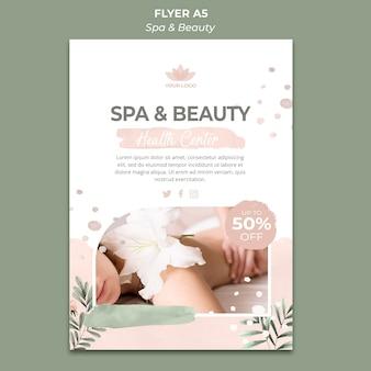 Folheto vertical para spa e relaxamento