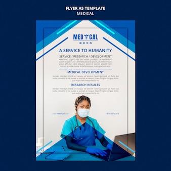 Folheto vertical para vacinação contra coronavírus