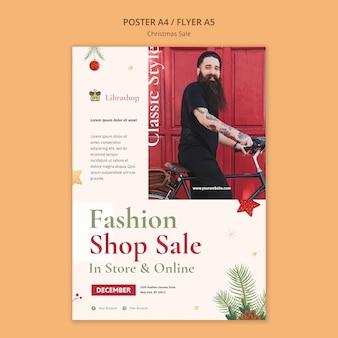 Folheto vertical para venda de natal
