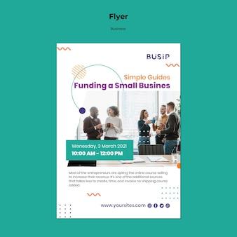 Folheto vertical para webinar e início de negócios