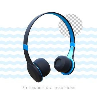 Fone de ouvido com renderização 3d