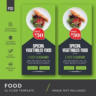 Food dl flyer template