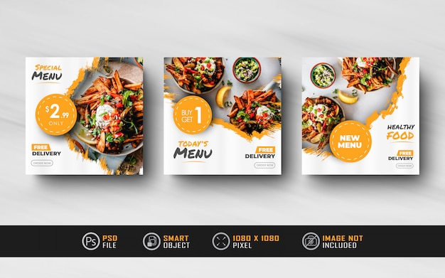 Food instagram social media feed post sale banner splash texture