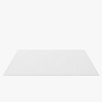 Forma de tapete retangular isolado