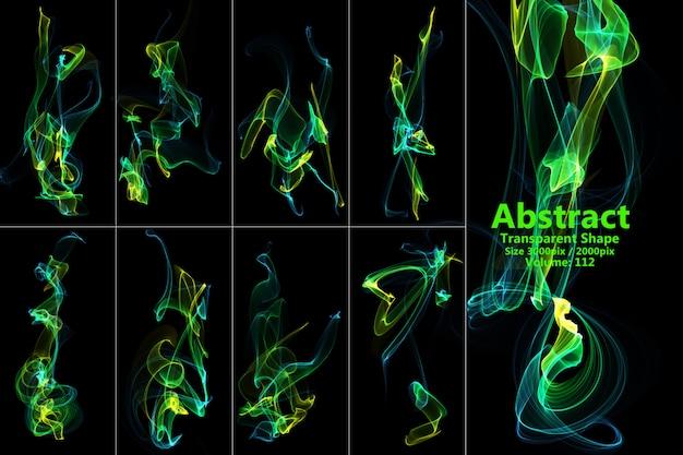 Forma isolada de chamas abstratas