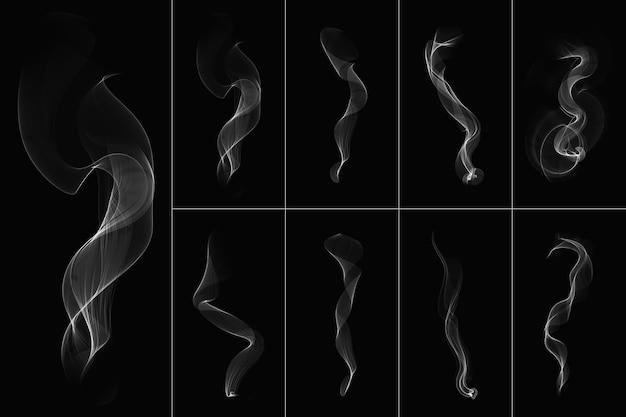 Forma transparente de fumaça branca abstrata