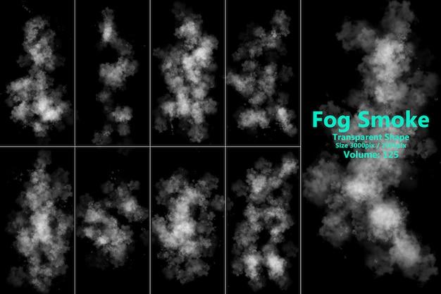 Forma transparente de fumaça de nevoeiro