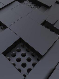 Formas geométricas de fundo escuro