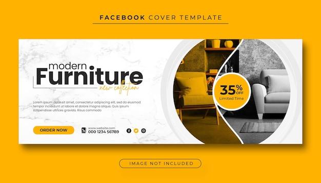 Foto da capa do facebook e banner da web de venda de móveis