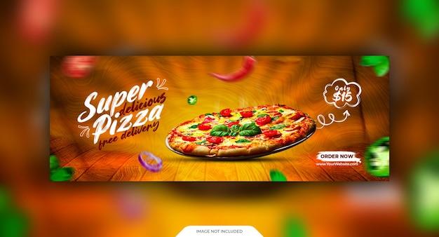 Foto da capa do restaurante no facebook e modelo de menu de comida