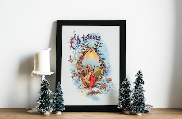 Foto de desenho de mão do dia de natal
