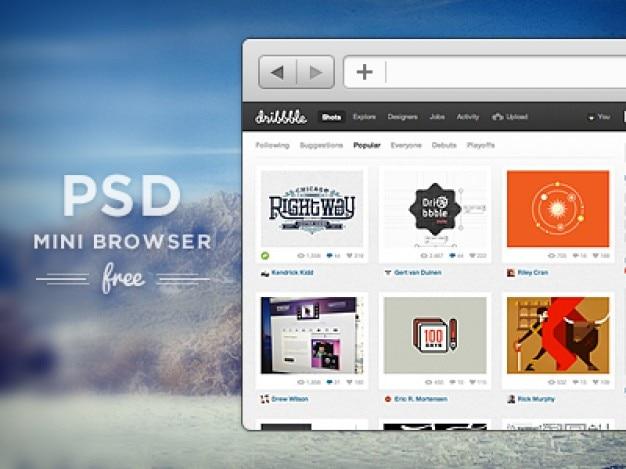 Fr psd mini browser