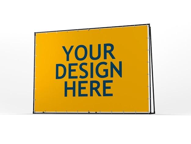 Frame banner mockup