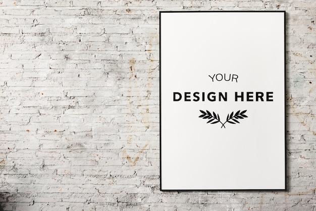 Frame da foto do espaço de design