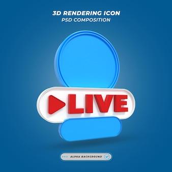 Frame do usuário de streaming de vídeo ao vivo de mídia social