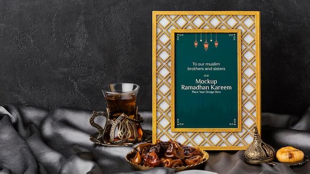 Frame kareem do ramadã e figos