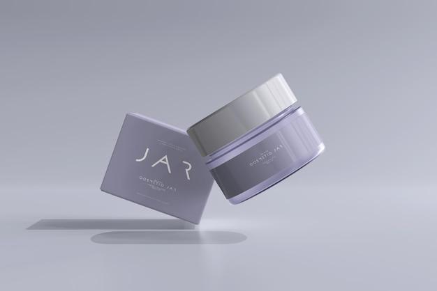 Frasco cosmético e maquete de caixa