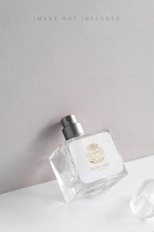 Frasco de perfume de aroma de embalagem de produtos de vidro com luz solar,