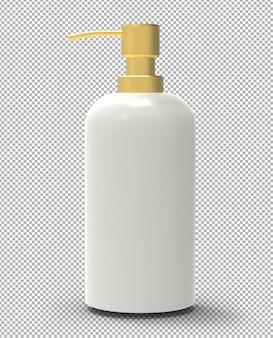 Frasco de sabão com tampa dourada