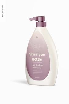 Frasco de shampoo com bomba de maquete