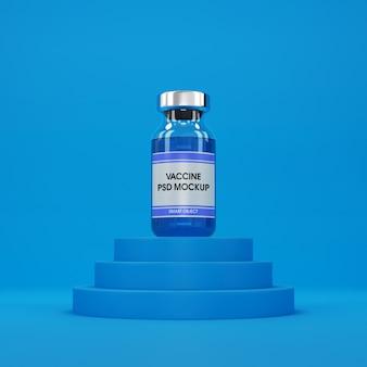 Frasco médico com modelo líquido