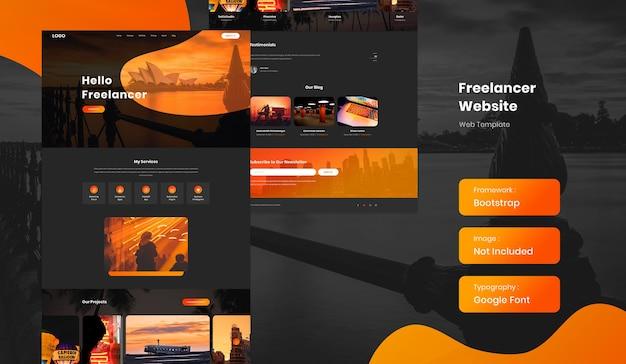 Freelancer e modelo de site de portfólio de currículo