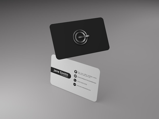 Frente e verso do cartão de visita - maquete psd grátis