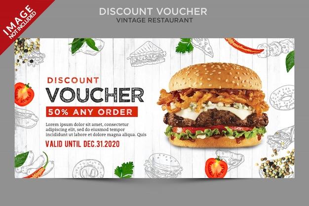 Fresh vintage discount voucher series