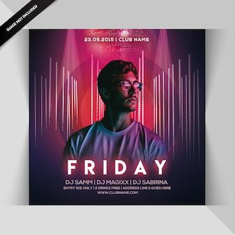 Friday night flyer para instagram