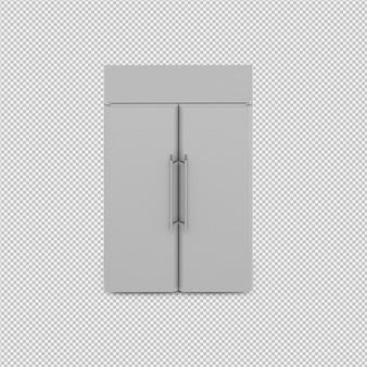 Frigorífico isométrico 3d isolado render