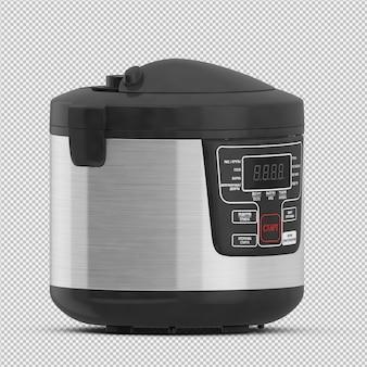 Fritadeira isométrica 3d isolado render