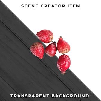 Fruta da floresta em fundo transparente