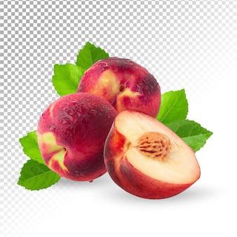 Fruta fresca de nectarina madura isolada
