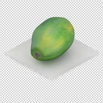 Fruta isométrica