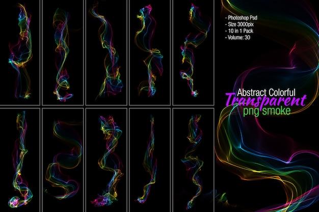 Fumaça colorida abstrata