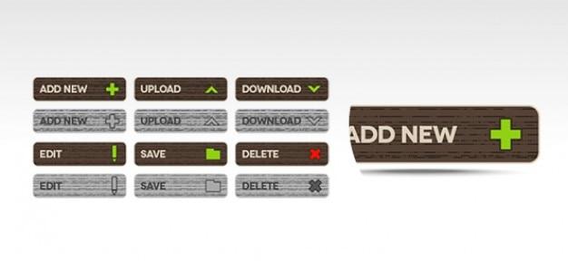 Funcionais botões psd